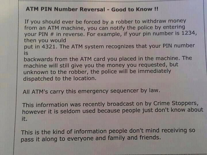 ATM PIN Reversal