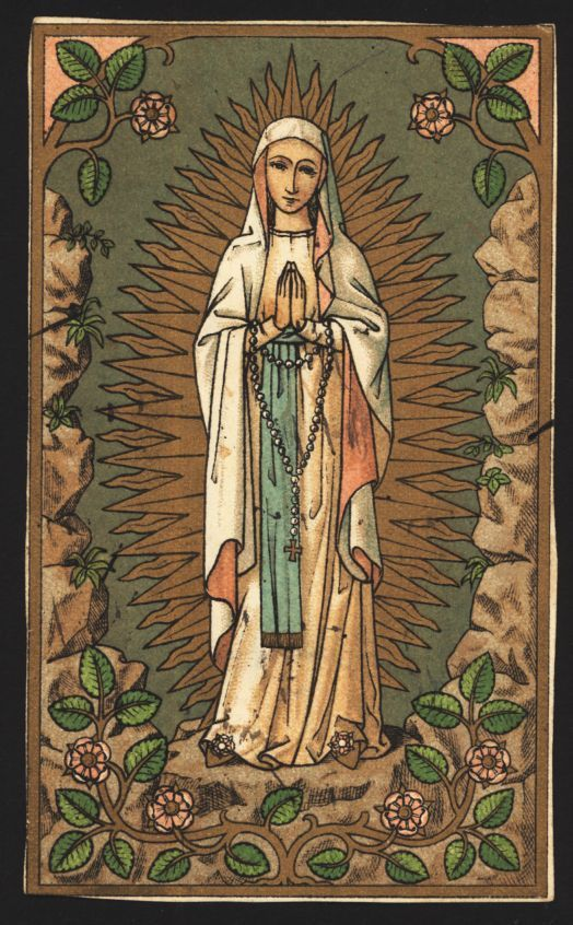 Virgin Mary Holy Card1