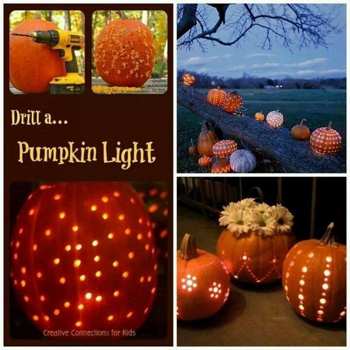 Drill A Pumpkin Light