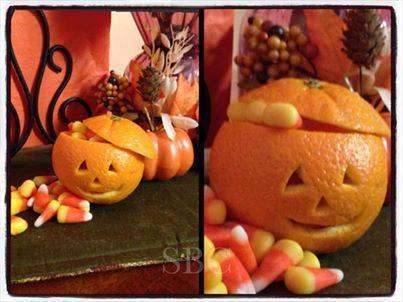 Halloween Orange Carving